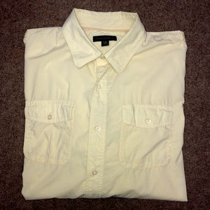 Banana Republic yellow button down